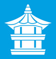 traditional korean pagoda icon white vector image