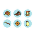traveling icon set vector image vector image