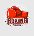 typographic boxing tee print design with glove vector image vector image