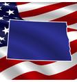 united states noth dakota on usa flag vector image