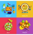 Vegetarian food Diet Fresh and Healthy food and vector image vector image