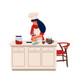 woman with hobbies characters cooking and vector image