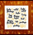 happy easter greeting calligraphy vector image