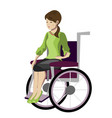 girl woman sitting in wheelchair vector image