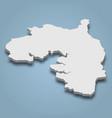 3d isometric map bintan is an island in vector image vector image