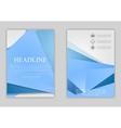 Abstract blue minimal tech flyer design vector image vector image