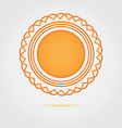 Abstract golden badge icon vector image