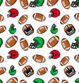 American football seamless pattern Rugby helmets vector image