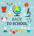 back to school chemistry background flat style vector image vector image