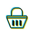 basket purchases flat sign and symbol vector image