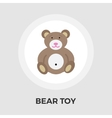 Bear Toy Flat Icon vector image vector image