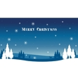 Beautiful landscape Christmas winter with vector image vector image