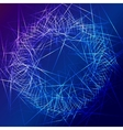blue star flash abstract background vector image vector image