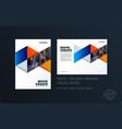 brochure blue orange design triangles template vector image