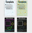 business flyer template or corporate banner vector image vector image
