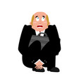 businessman scared isolated frightened business vector image