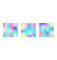 collection abstract iridescent square vector image