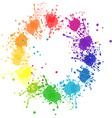 Color splatter vector image vector image