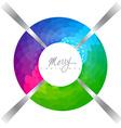 colorful xmas design vector image vector image