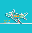 Concept of travelling by plane vector image vector image