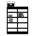 contour bookcase with books inside and box archive vector image vector image