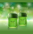 cosmetic ads poster moisturizing nourishing cream vector image