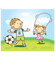 Cute Cartoon Children vector image vector image