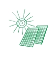 doodle solar panels vector image vector image