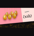 easter invitation card on abstract design with vector image vector image