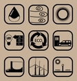 Ecology simple icon set vector image