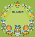 education linear icons frame vector image vector image