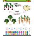 educational addition worksheet for kids vector image vector image