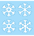 four snowflakes vector image vector image