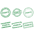 France stamps vector image
