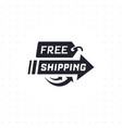 free shipping in black color vector image vector image