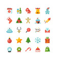 funny christmas and new year holiday cartoon flat vector image