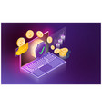 futuristic smart security credit cards controls vector image vector image