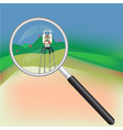 geodesy and magnifier vector image vector image