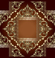 gold baroque 3d seamless pattern with vector image vector image