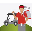 Golf design vector image vector image