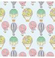 Hand-drawn seamless air balloon pattern vector image vector image