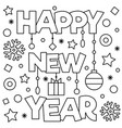 happy new year coloring page vector image