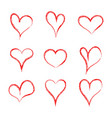 heart hearth collection handmade hearts love vector image
