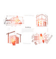 house planning construction site safety check vector image