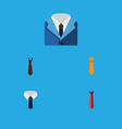 icon flat clothing set of style tie suit and vector image vector image