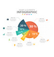 infographic 8 steps pie chart diagram element vector image vector image