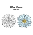 Isolated Blue Flower vector image vector image