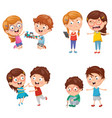 kids behaviours vector image