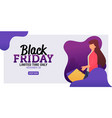 Landing page black friday sale banner