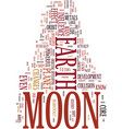 Moon fever text background word cloud concept vector image